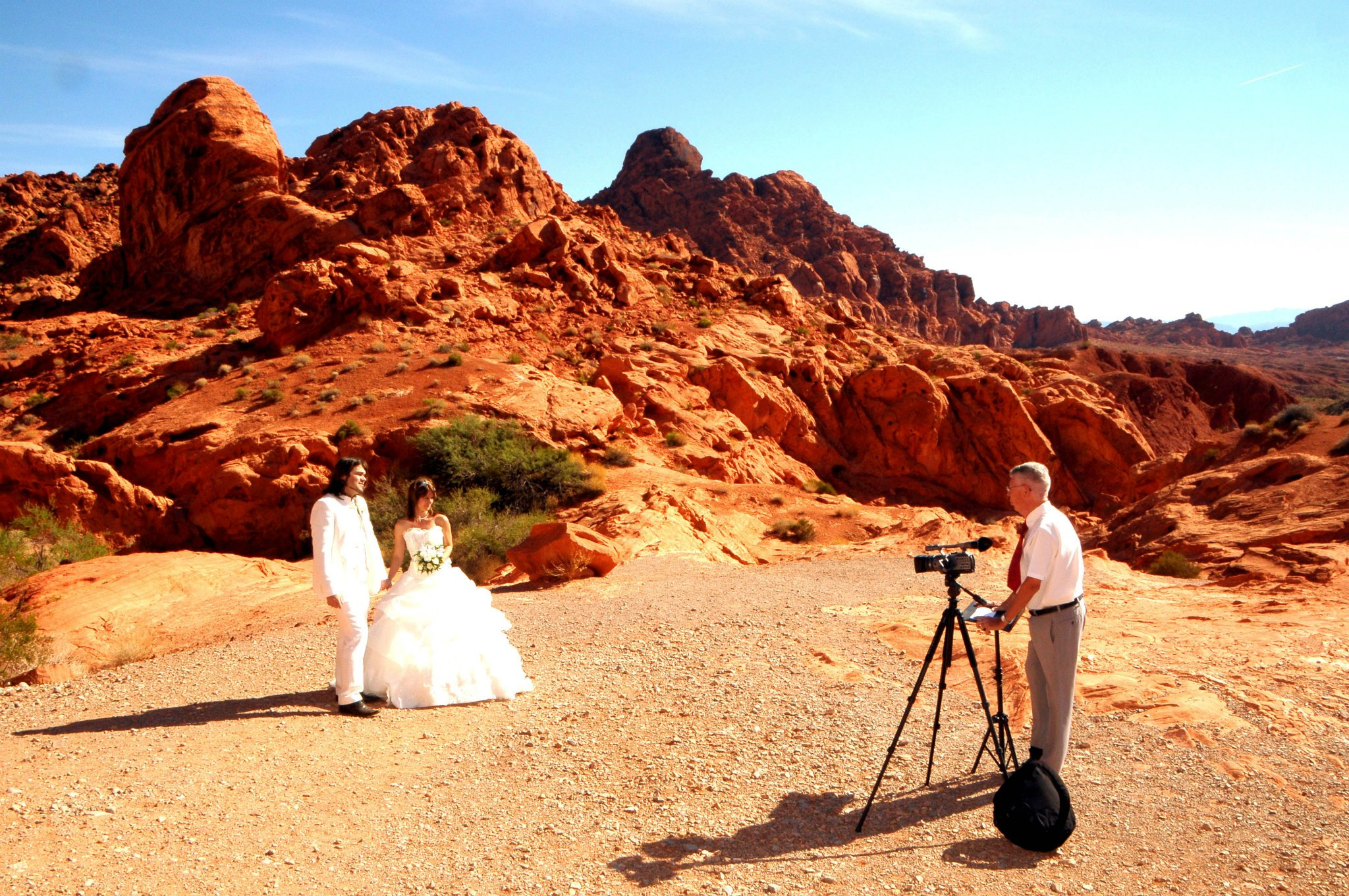 Mariage Las Vegas Valley of Fire state park elopment