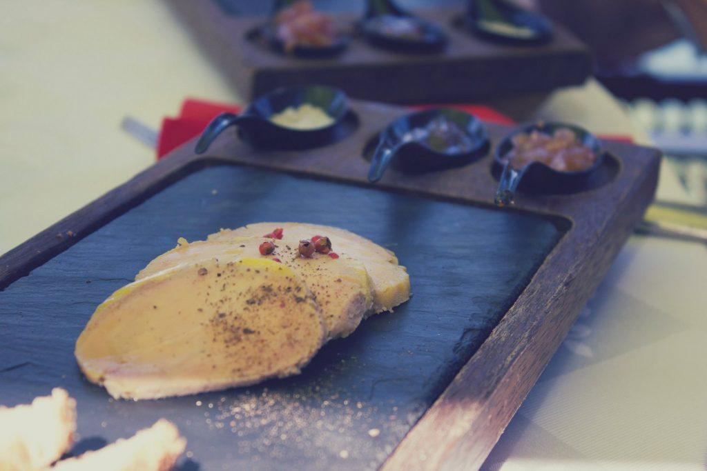 Plat foie gras Lagon Bleu