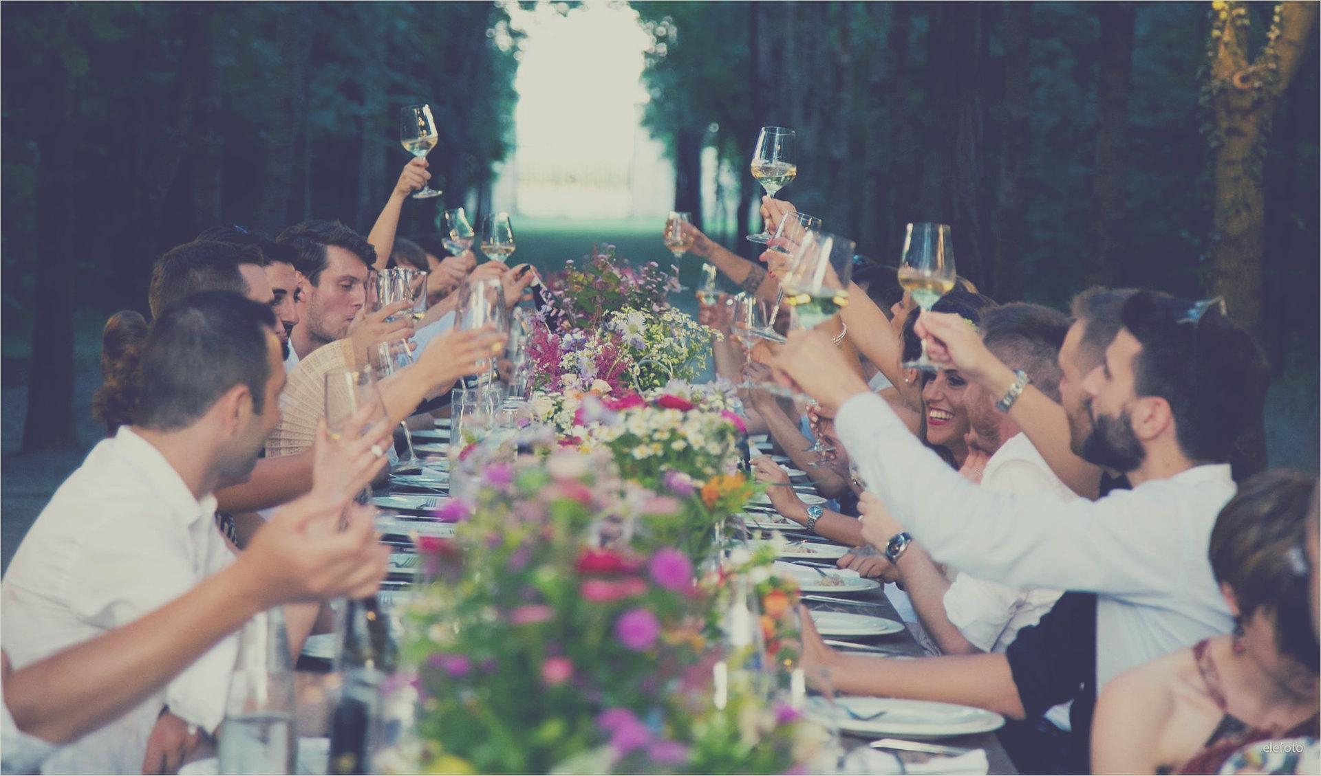 dîner mariage extérieur