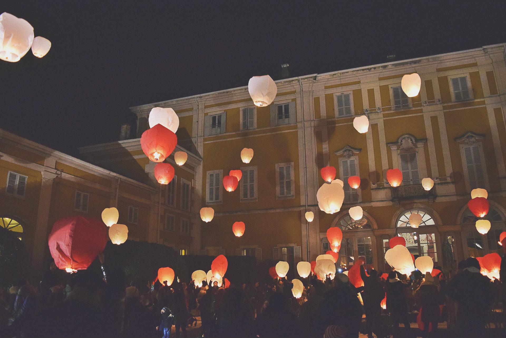 lanternes volantes mariage blog souriez rose