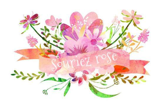 Logo Souriez rose