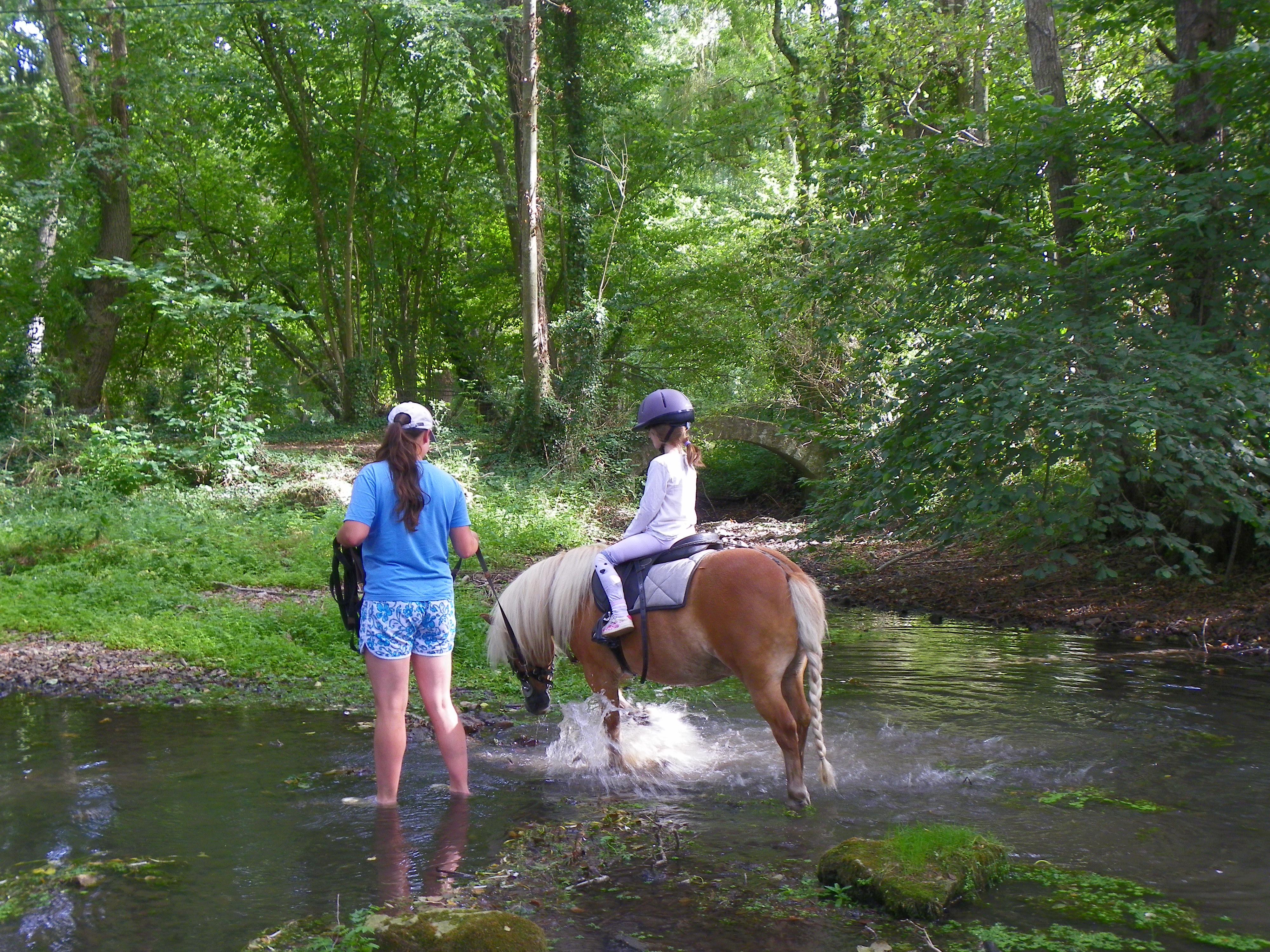 Clémentine poney rando baignade Souriez rose
