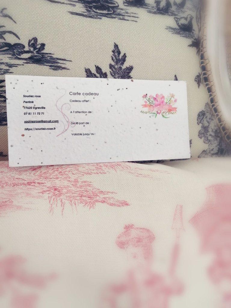 Carte cadeau à planter Souriez rose