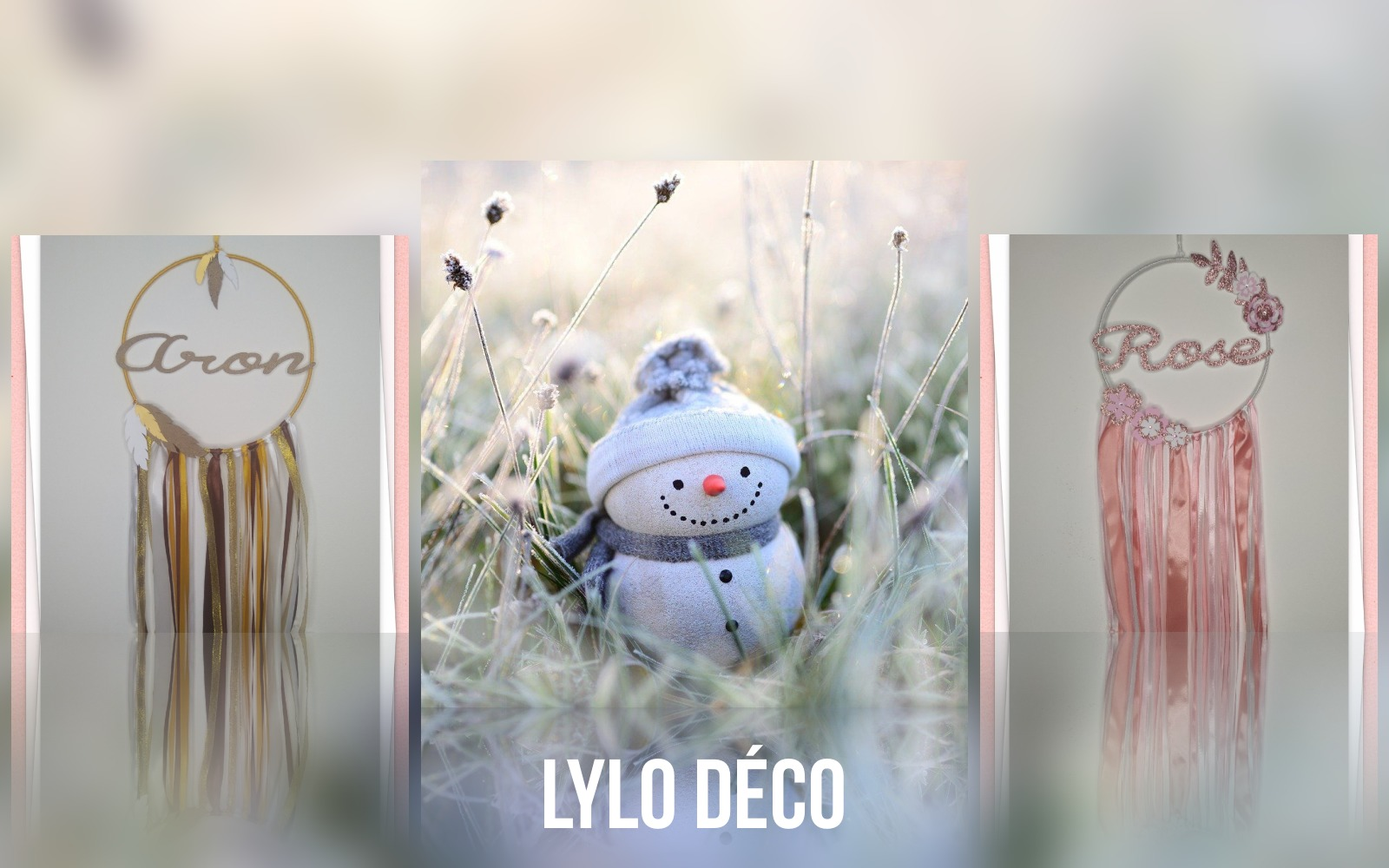 Lylo déco marché de noël virtuel de Souriez rose