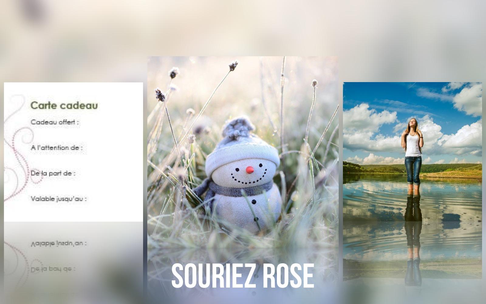 Carte cadeau à planter Souriez rose marché de noël virtuel de Souriez rose