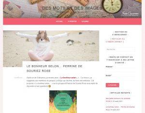 Josee Cousineau blog Des mots et des images le bonheur selon Perrine de Souriez rose